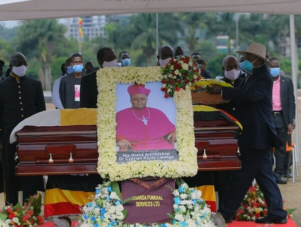 Museveni Orders 17 General's-Gun Salutes For Archbishop Lwanga, 'Commends Him For Supporting NRM'