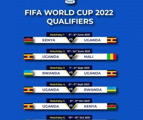 2022 Word Cup Qualifiers: Checkout Fixtures As Uganda Battles Kenya, Rwanda