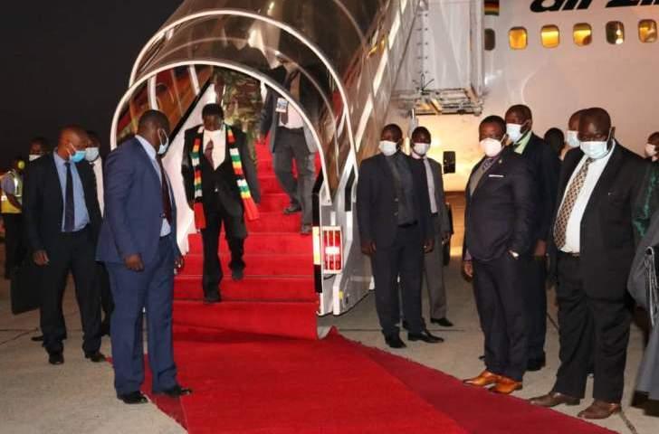Just In: President Mnangagwa Arrives In Uganda For Museveni's Swearing-In