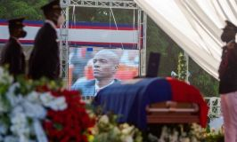 Foreign Dignitaries Take Cover As Protesters Clash With Police During Funeral Of Assassinated Haitian President