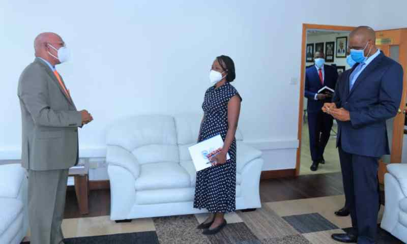 Minister Jeje Odongo Receives Credentials For Ngongi Namondo Newly Appointed UN Resident Coordinator
