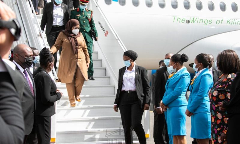 Rwanda-Tanzania Ties: President Samia Suluhu Hassan Arrives In Kigali For A 2-Day State Visit