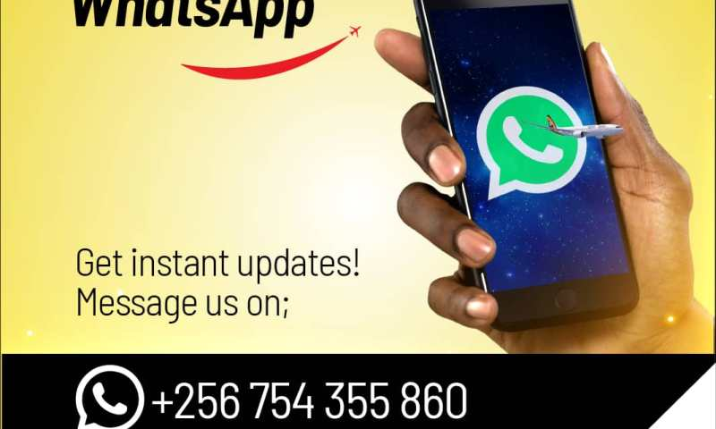 Don't Move A Muscle, Book Online!- Uganda Airlines Introduces WhatsApp Number For Customers To Book Flights In Record Time!