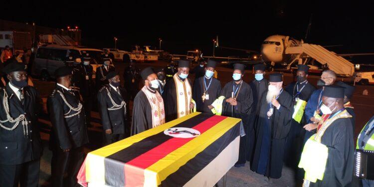 Body Of Metropolitan Jonah Lwanga Arrives In Uganda For Burial