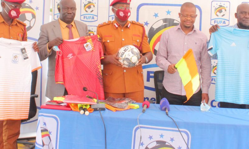 FUFA Hands Over Sports Equipment To Upper Prison Luzira