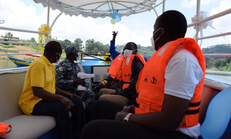 URA, Partners Bail Out Bwama School Children With Motorboat & Life Jackets