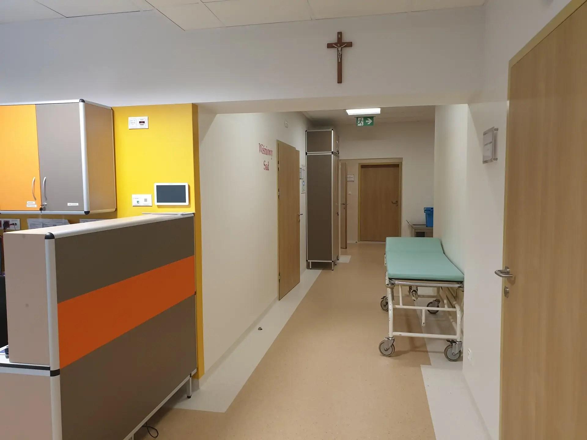 Blok porodowy - korytarz