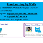 Azure learnings 10-Sept-2016 | Gurgaon