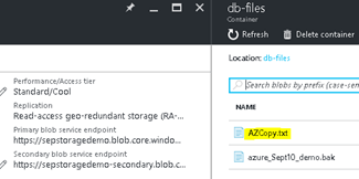 verify fileupload azure storage account