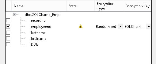 Always Encrypted step 3