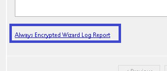 Always Encrypted - log Report link