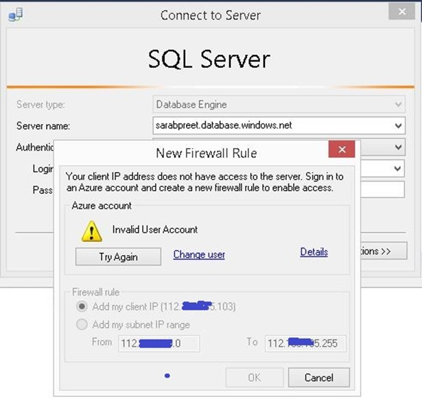 Add Client IP range for Azure SQL Database from SSMS Benefits of using latest SSMS