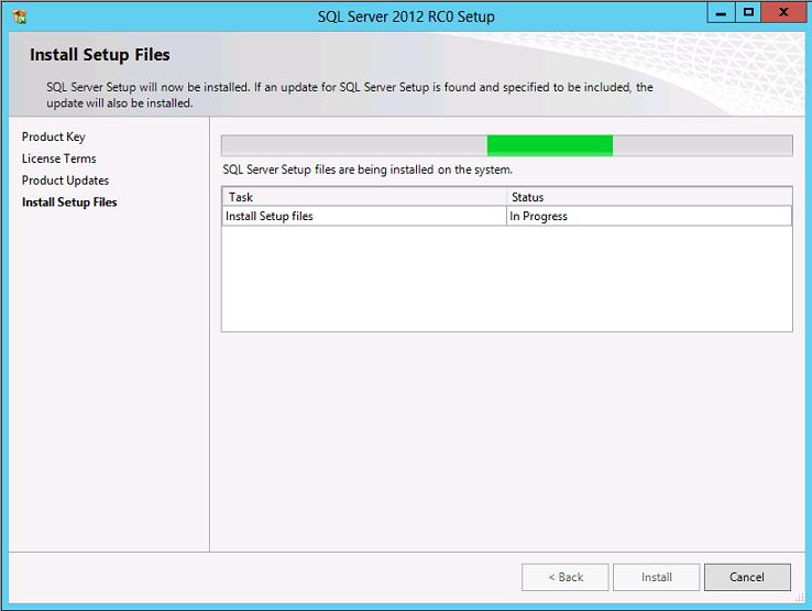Installing Setup Files