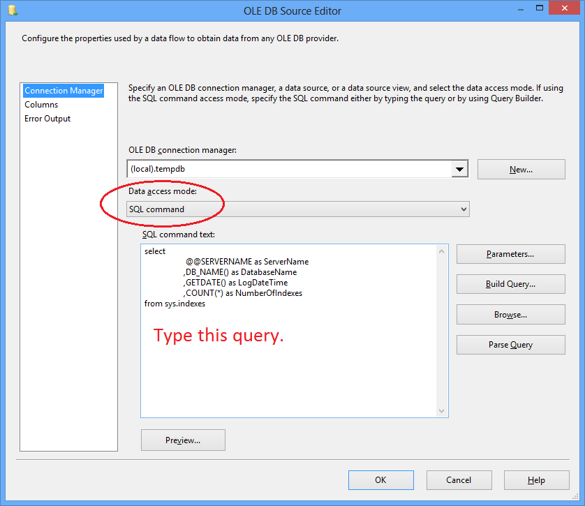 Example of SSIS Foreach Loop Item Enumerator and Dynamic