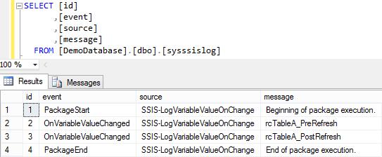 Log SSIS Variable Value 7 - Log Entries 2