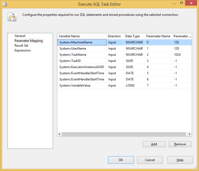 Log SSIS Variable Value 9 - Event Handler - ESQLT 2