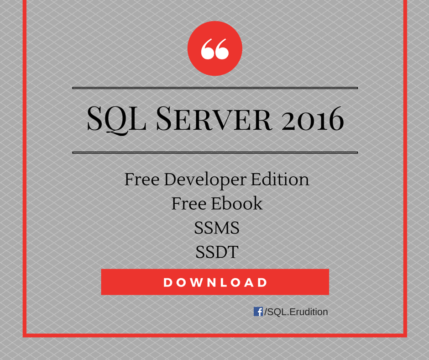 Download Free SQL Server 2016 Developer Edition