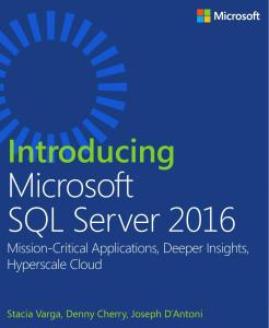 Free SQL Server eBook - Introducing SQL Server 2016