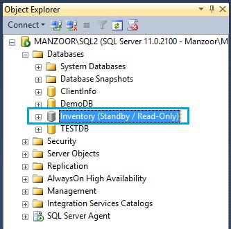 Restore Database on Secondary Server with Standby
