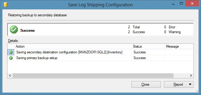 9_SaveLogShippingConfiguration