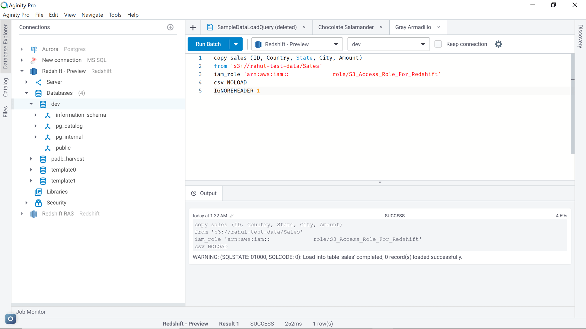 COPY command code