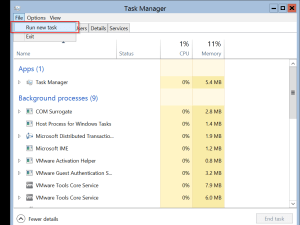 Windows Server 2012 Core-taskmanager