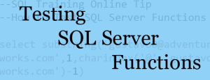 How To Test SQL Server Functions