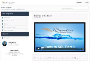 Microsoft Excel to SQL Server Course