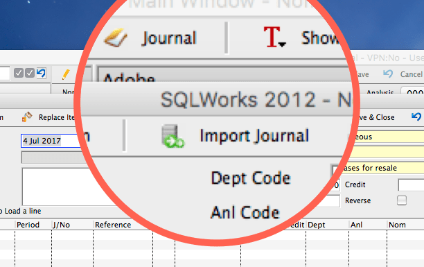 importing journals