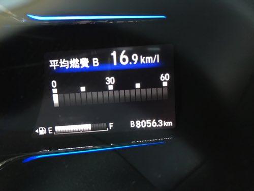 ホンダ ヴェゼルの燃費 18000km時点