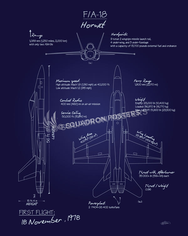 Blueprints Carrier Aircraft