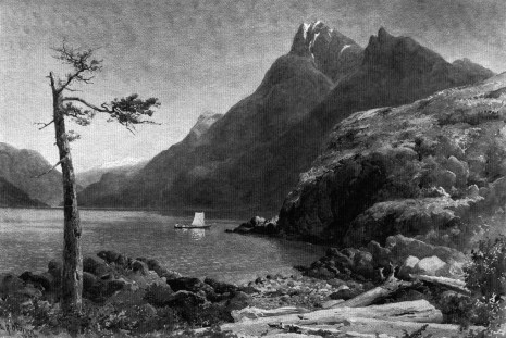 Watercolour of Northern Howe Sound, by L.R. O'Brien 1888