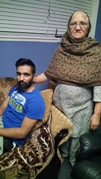 Gurpreet Singh with his grandmother, Manjeet Kaur