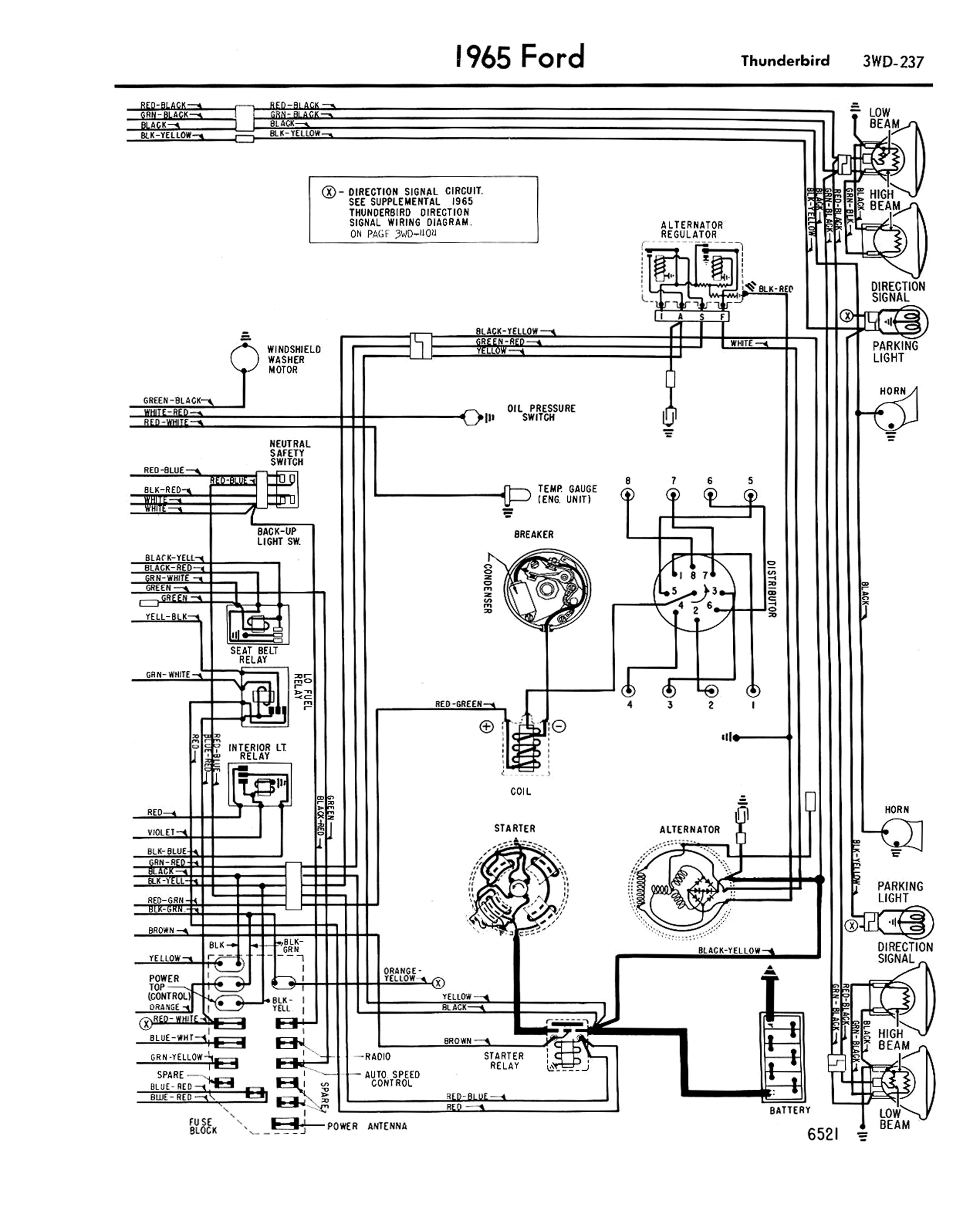 65 Thunderbird Wiring Diagram
