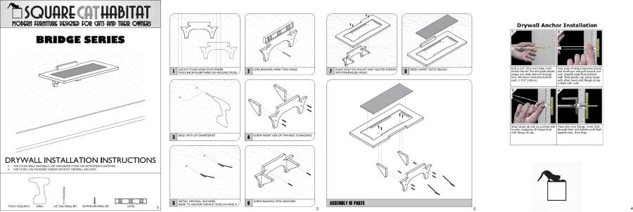 Hawthorne Cat Wall Step Install Instructions