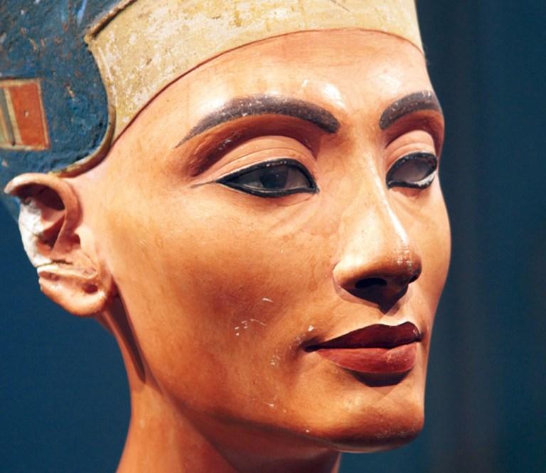 Nefertiti square jawed woman