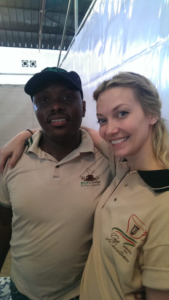 Sam from Buf in Rwanda and Anette
