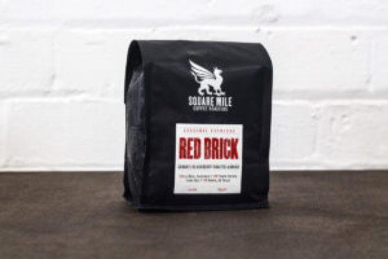 Bag of red brick coffee