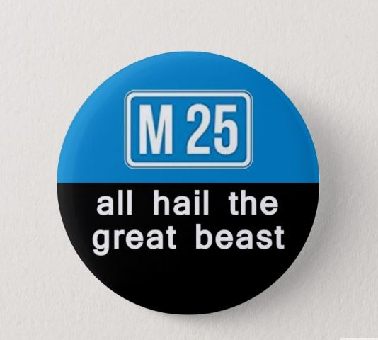 All Hail the Great Beast~ Good Omens - Square Penguin Badges