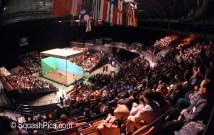 Squash court erected at the NIA, Birmingham for 1998 British Open