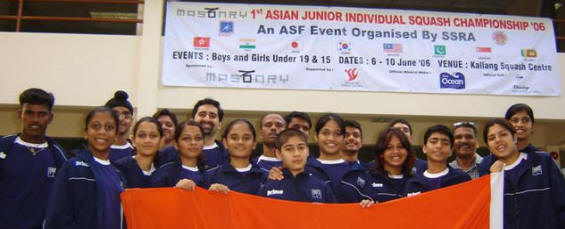 Indian team for the Asian Juniors