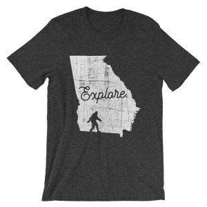 Heather dark gray explore Georgia Bigfoot t-shirt