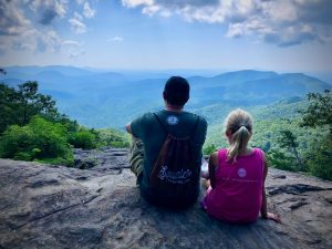 Father and daughter on Preachers Rock, GA.