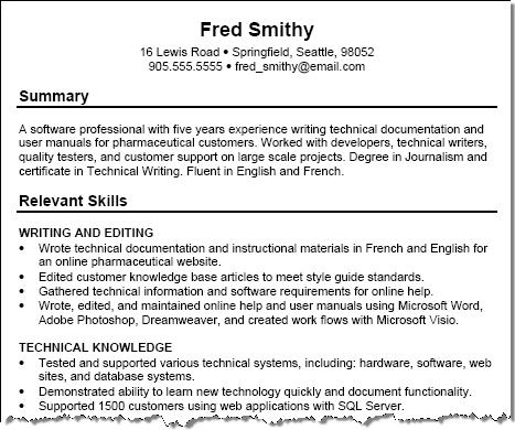 Free Resume Examples With Tips Squawkfox  Skill Resume Examples