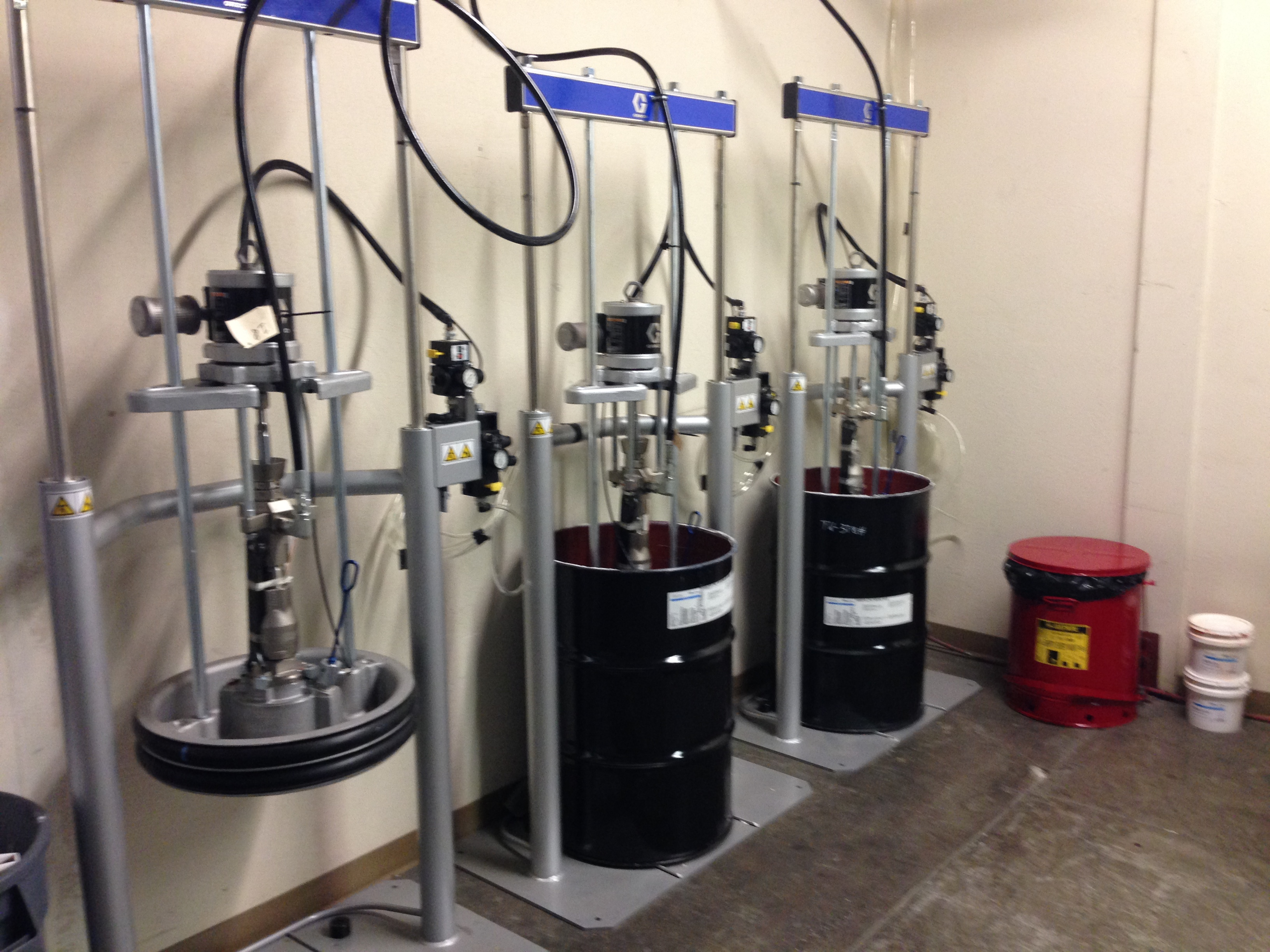 Drum pumps at Midwest Supply