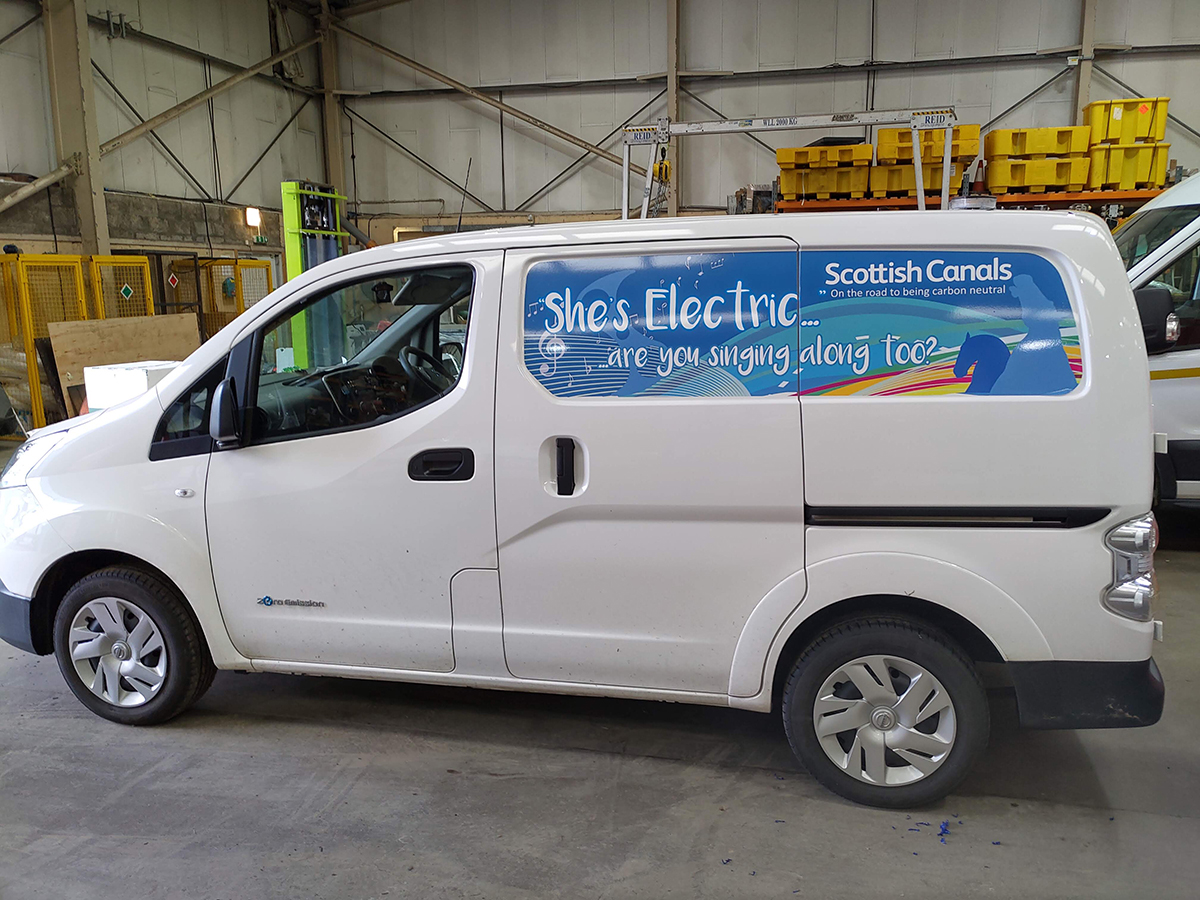 Inset panel van wrap