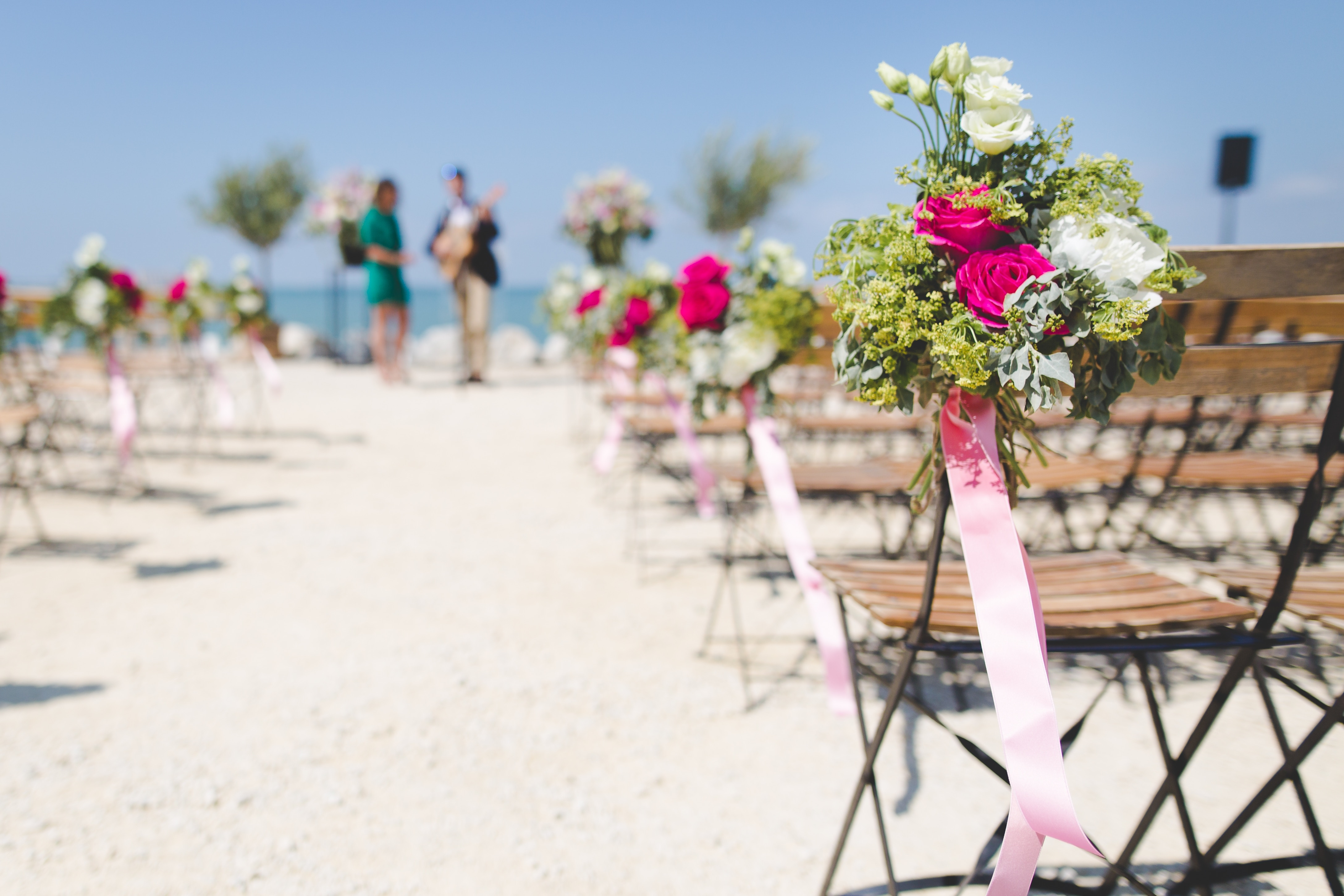 Beautiful Beach Wedding Arrangement