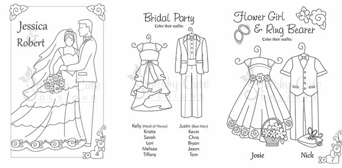 Personalized Coloring Books For Wedding | Coloring Page for kids