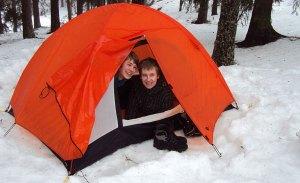 Talvellakin voi asua teltassa.