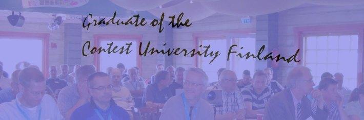 Edellisen Contest Universityn väkeä.